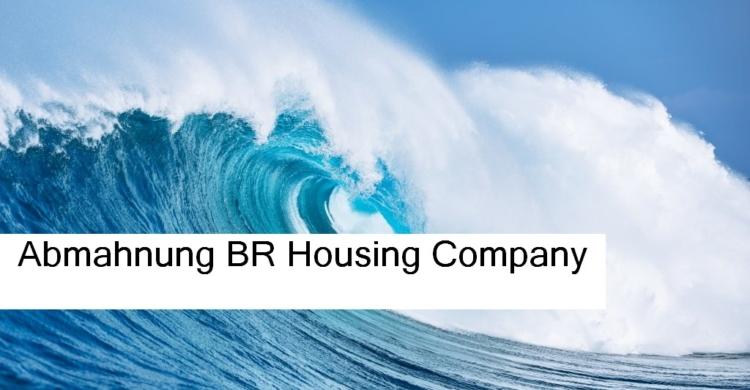 Große blau weiße kraftvolle Ozean Welle | Abmahnung BR Housing Company | Marke Ocean Breeze