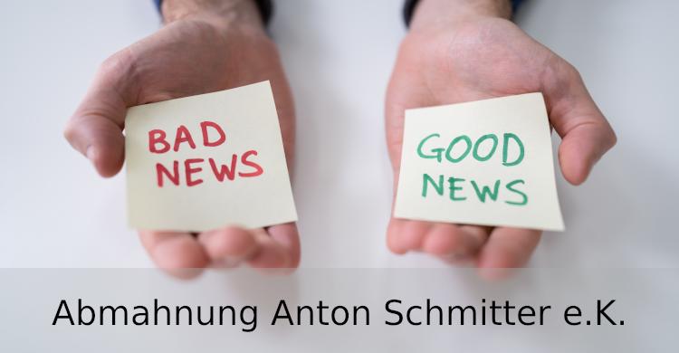 Abmahnung Anton Schmitter e.K. | fehlende Grundpreisangabe