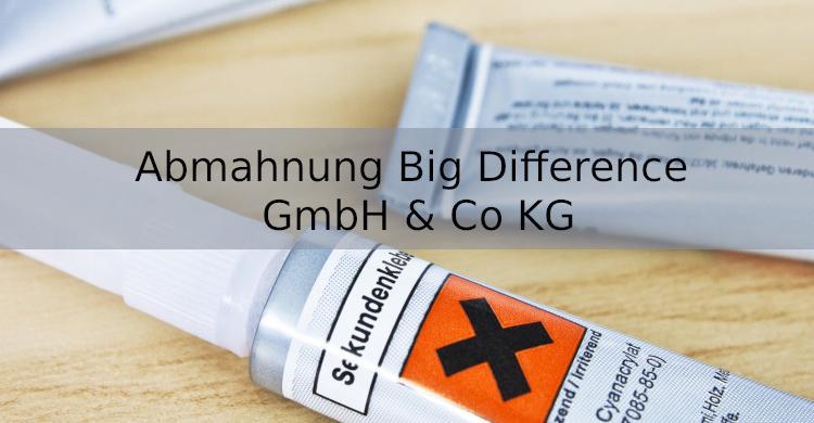 Abmahnung Big Difference GmbH & Co KG | Verstoß gegen Preisangabenverordnung und CLP-VO