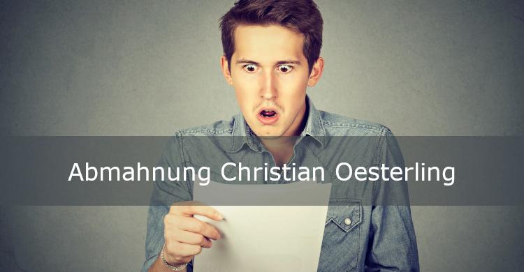 Abmahnung Christian Oesterling   Abmahnung Rechtsanwalt Andreas Gerstel   Verletzung Informationspflichten bei Amazon