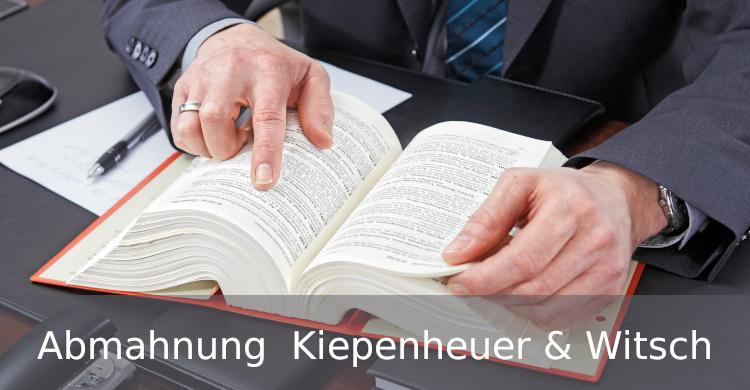 Abmahnung Kiepenheuer und Witsch | Urheberrecht an Texten |