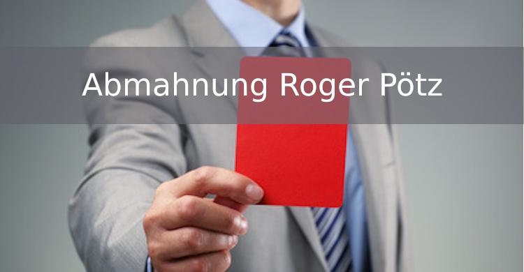 Abmahnung Roger Pötz | Diesel Schmitt Ammer Rechtsanwälte | gewerblicher Privatverkauf Münzen