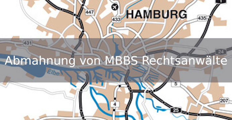 Abmahnung von MBBS Rechtsanwälte | Kartografie Abmahnung | Stadtplannutzung ohne Erlaubnis