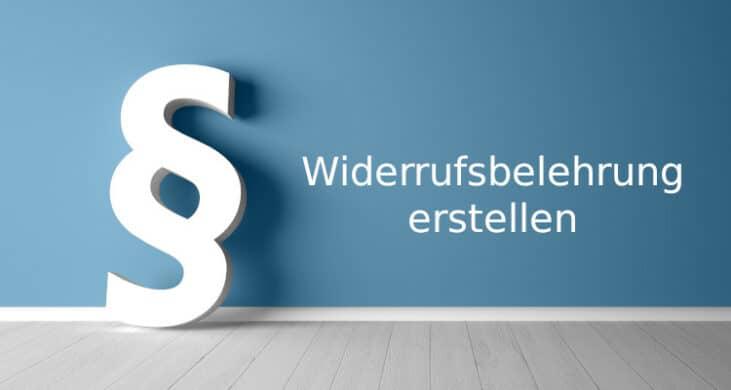 50 Suss Widerrufsrecht Vorlage Onlineshop